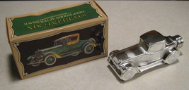 Vintage Avon Sterling Six Car Bottle Full With Deep Woods After Shave Boxed - $9.49