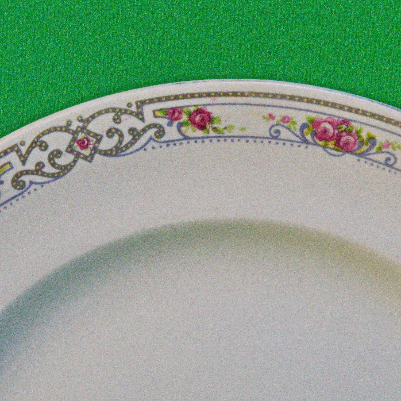 Vintage (1910+) Wood & Sons (England) 9-Inch Floral Dinner Plate