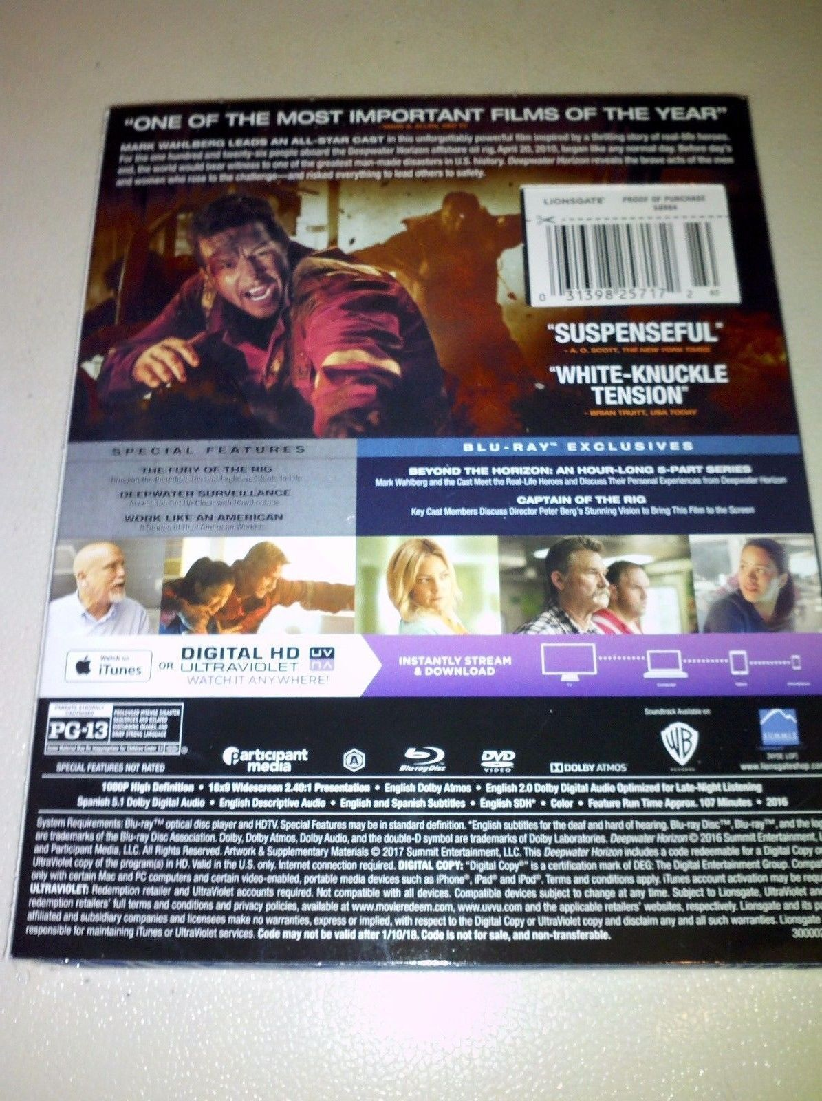 Deepwater Horizon (DVD Only)--***Please Read Full Listing***