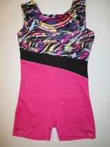 NEW Girl's Biketard 3 Sizes 4-5 6-7 7-8 CS CM Leotard Unitard Shorts Dance - $14.95