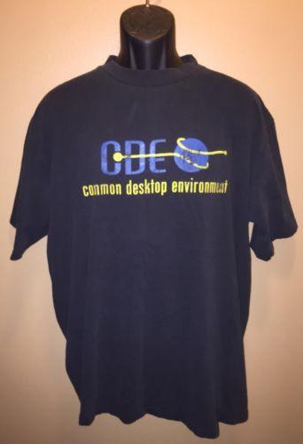 Vintage 90s COMMON DESKTOP ENVIRONMENT CDE T-Shirt All Sport - Unix OpenVMS - XL