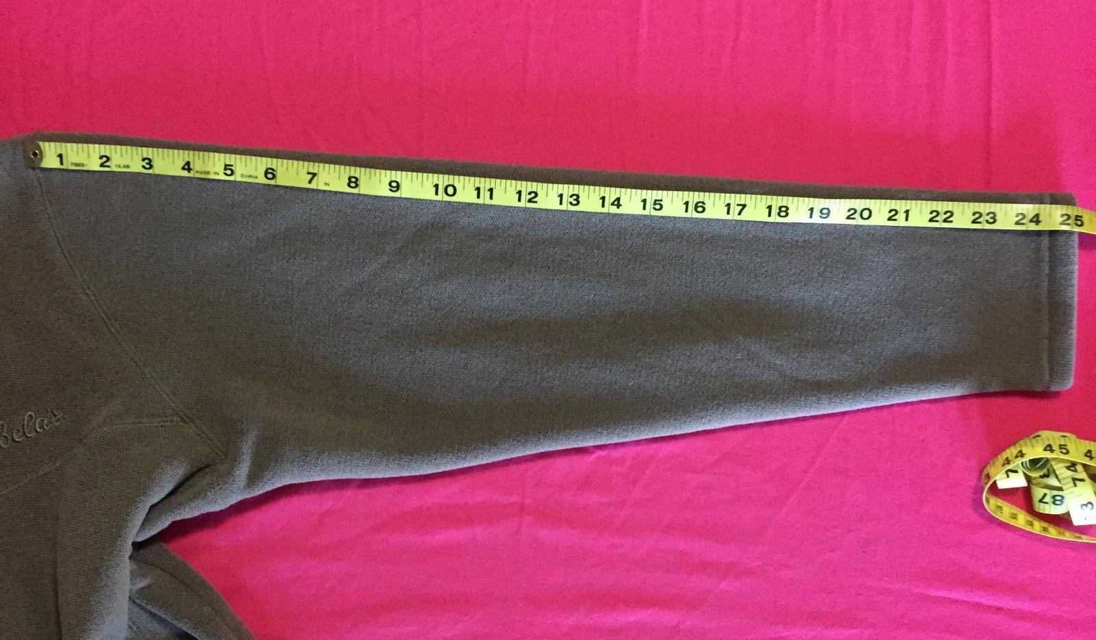 Cabela's Brown Beige Fleece Mock Turtle Neck Full Zip Outerwear Jacket Large