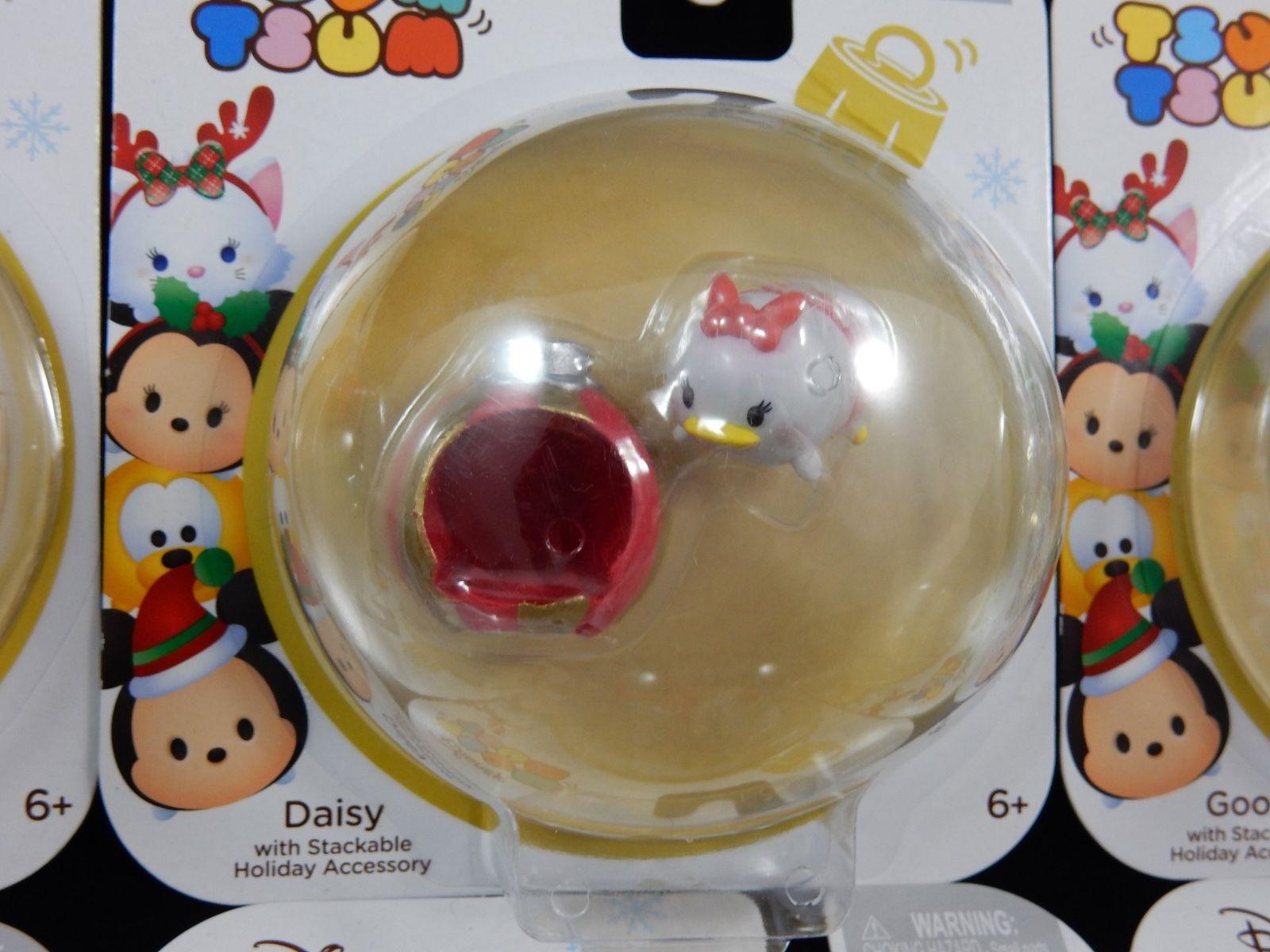 Disney Tsum Tsum Christmas Mini Vinyl Figures Ornament Set NEW