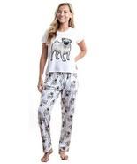 Dog Pug pajama set with pants for women - $35.00