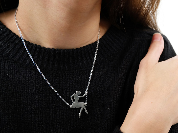 SOVATS GIRL ON SWING NECKLACE