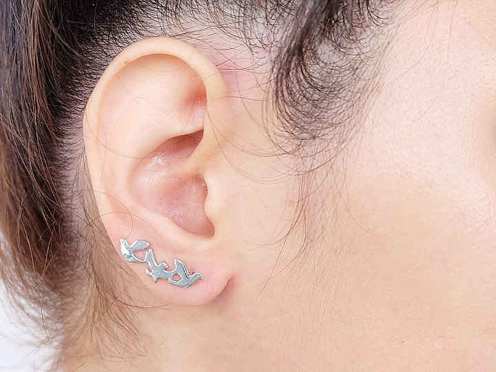 SOVATS THREE BIRD EARRING