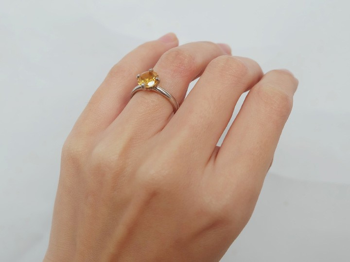 "SOVATS SOLITAIRE RING ""CITRINE"""