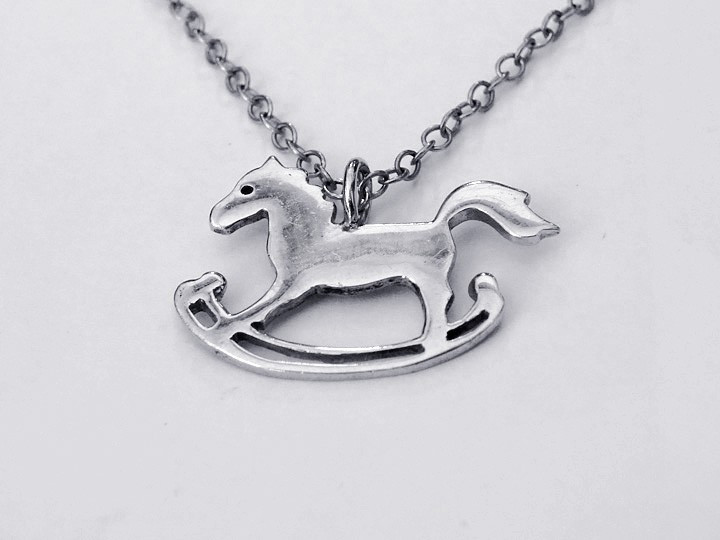 SOVATS MERRY GO ROUND HORSE NECKLACE