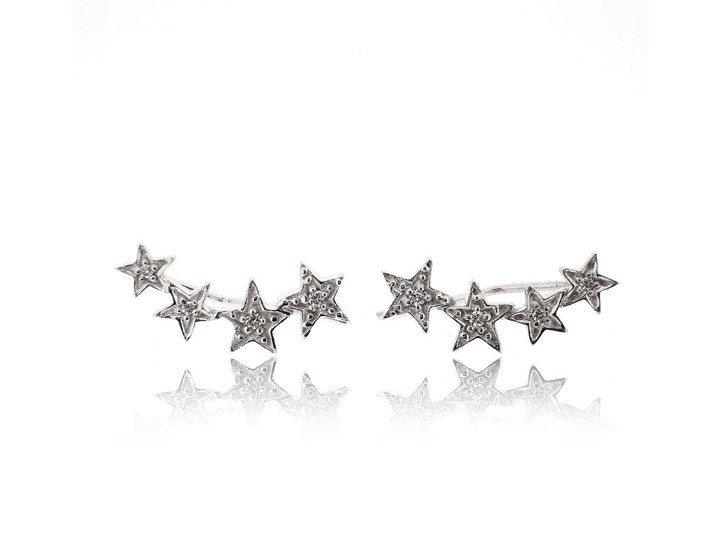 SOVATS CZ FOUR STAR EARRING