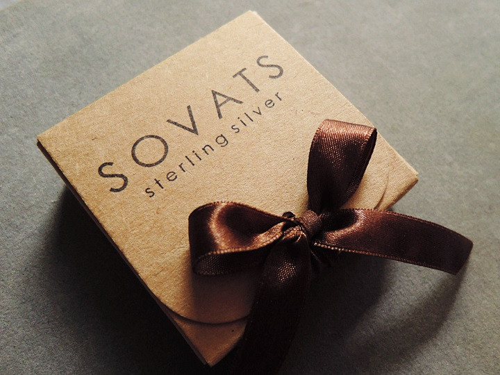 SOVATS BROWN ANGLE WING LEATHER BRACELET