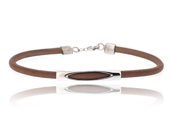SOVATS BROWN PIPE LEATHER BRACELET