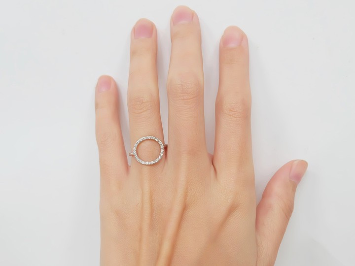 SOVATS CZ OPEN CIRCLE RING