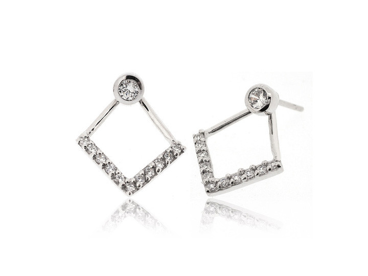 "SOVATS TWO WAY EARRING "" V LINE"""