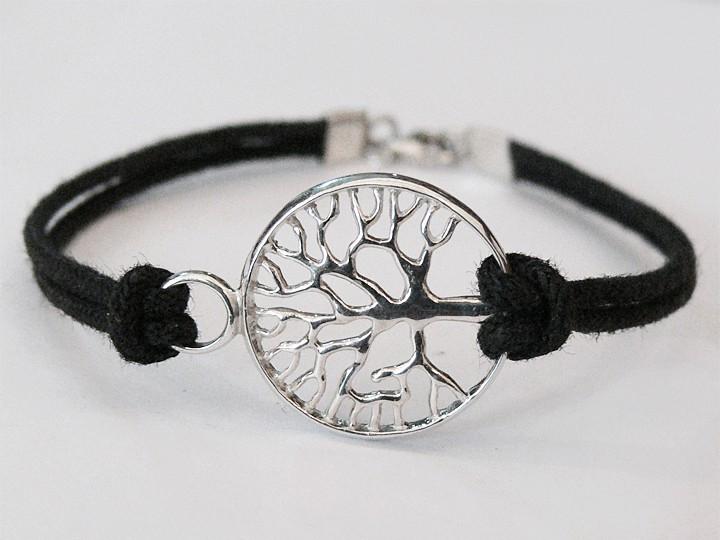 SOVATS BLACK TREE OF LIFE CORD BRACELET