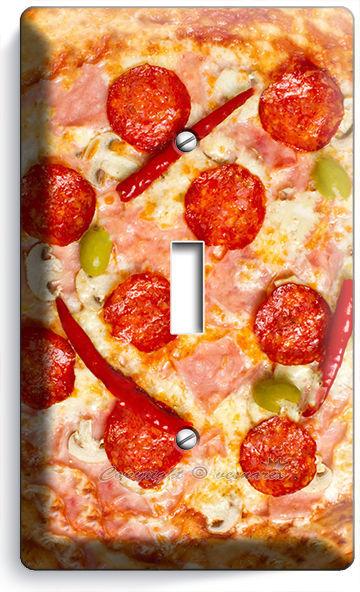 PEPPERONI ITALIAN PIZZA SINGLE LIGHT SWITCH WALL PLATE DINING ROOM KITCHEN DECOR