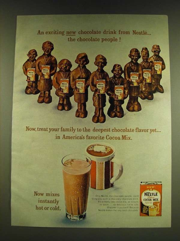 Primary image for 1966 Nestle Cocoa Mix Ad - An exciting new chocolate drink from Nestle
