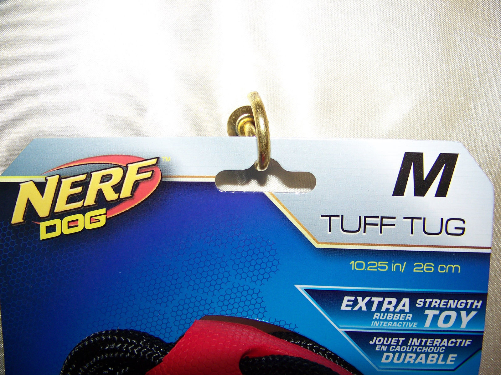 "Nerf Dog Toys Twister Tug, 10.25"", Red/Black"