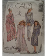 McCall's Misses Size Small 10 12 Sleepwear and Booties 1991 Pattern 5701 - $12.99