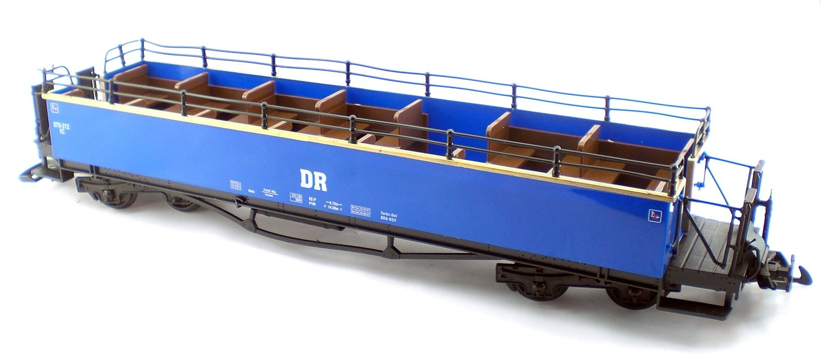 Blue Dr Rail Ways 4 Pc Set Of Sight Seeing And Observation Car