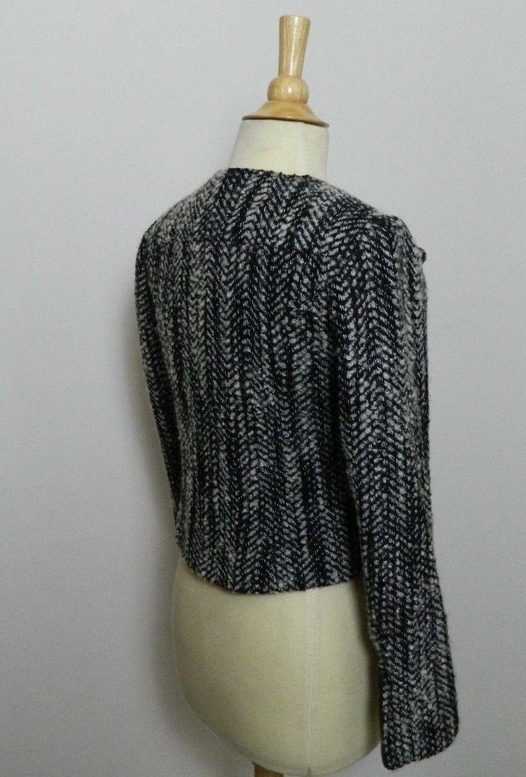 CABI JACKET  Moto Mockingbird Jacket Tweed Black, Gray and White Size 4 image 3