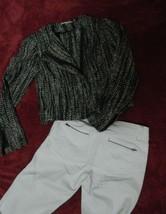 CABI JACKET  Moto Mockingbird Jacket Tweed Black, Gray and White Size 4 image 6