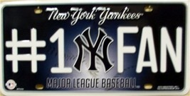 MLB New York NY Yankees #1 Fan License Plate Au... - $8.95