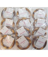 12 Wholesale Jewelry Lot XHILARATION Bracelets Wood Wooden Bangles $84To... - $12.69
