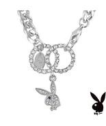 Playboy Bracelet Interlocking Infinity Circles Swarovski Crystal Bunny C... - $14.69