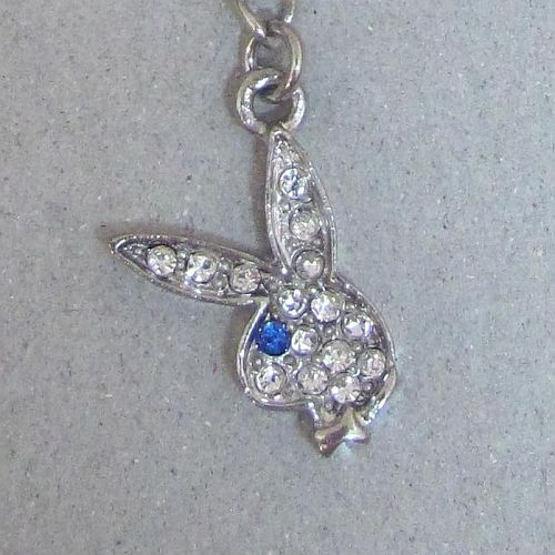 Playboy Cell Phone Charm Bunny Logo Swarovski Crystals Mobile Gift Box RARE HTF