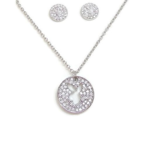 Playboy Jewelry Set Bunny Necklace Earrings Jewelry Box Swarovski Crystals Gifts