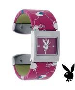 Playboy Watch Bunny Logo Hearts Cuff Bracelet Band Stainless Steel Back ... - $29.69