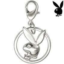 Playboy Charm Bunny Infinity Circle Swarovski C... - $11.20