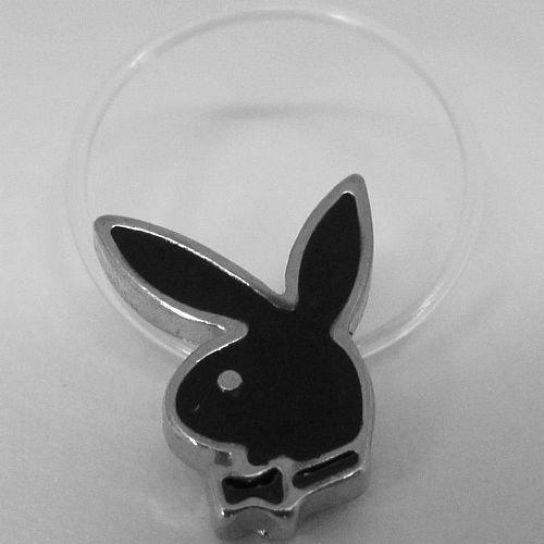 Playboy Toe Ring Bunny Logo Black Enamel Stretch Illusion Band Box NOS RARE HTF