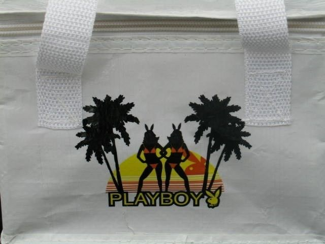 Playboy Lunch Bag Beach Bunny Tote Box Insulated Cooler Licensed Official NOS