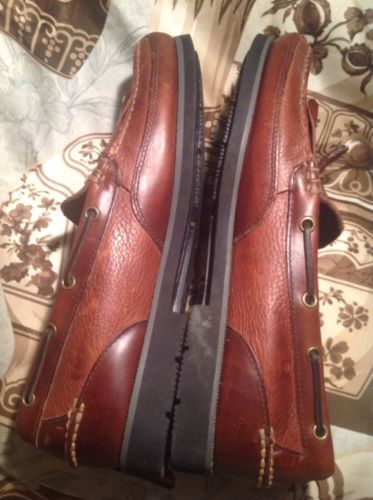 MEN'S CHEROKEE BROWN LEATHER SHOES TASSEL LOAFERS Amazonas Solanite Soles 12M