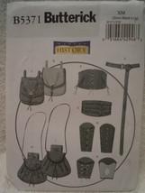Butterick Misses Men Size Sml Lrg Wrist Bracers Corset Belt Pouches B5371 Uncut  - $9.99