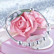 Solid 990 Silver Bangle Bracelet Baby Kids Chil... - $49.99