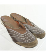 Merrell Phoenicia Brown Mesh Mule Slip-On Sporty Shoe Backless Women Sz 6.5 EUC - $26.14