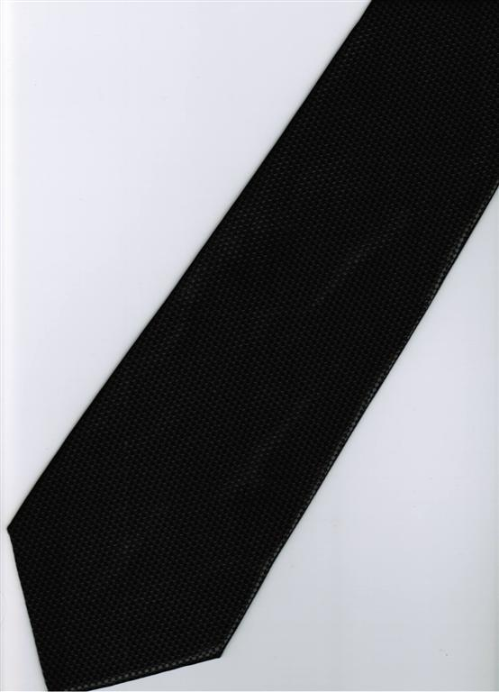 Black Blinking Solid Men Formal Fashion Neck Tie