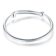 Solid 990 Silver Plain Bangle Bracelet Baby Kid... - $49.99