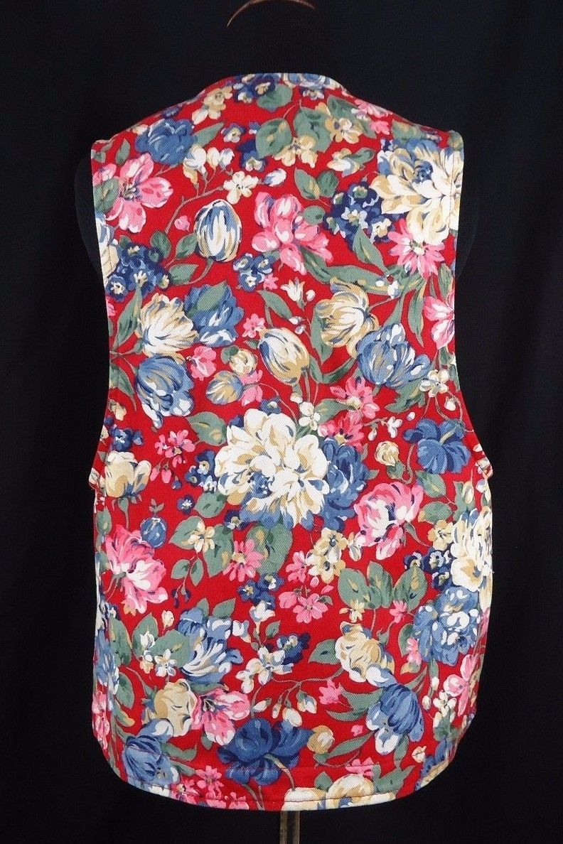 Vintage Gotcha Covered Floral Vest 90's Country, Shabby Chic