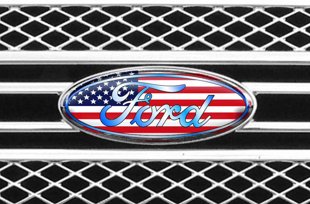 Front,Rear,Steering Wheel Decals Sticker Oval Overlay For Ford Edge 07-14 USA