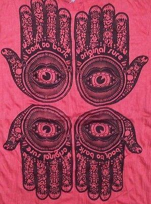 Yoga Men T Shirt Buddha Tattoo Lotus India OM Ganesh ra Chakra PALM L RARE Sure