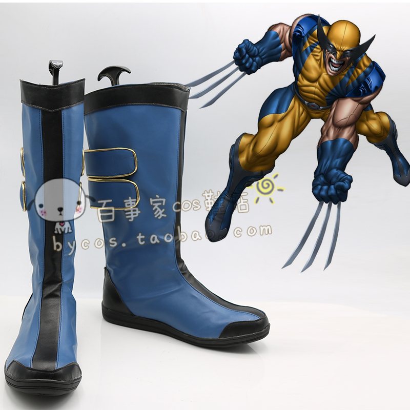 x-men W olverine James Logan Howlett  cos Cosplay Shoes boots shoe #AT70