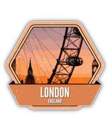 London England Grunge Vintage Travel Label Car Bumper Sticker Decal 5'' X 5'' - $4.35