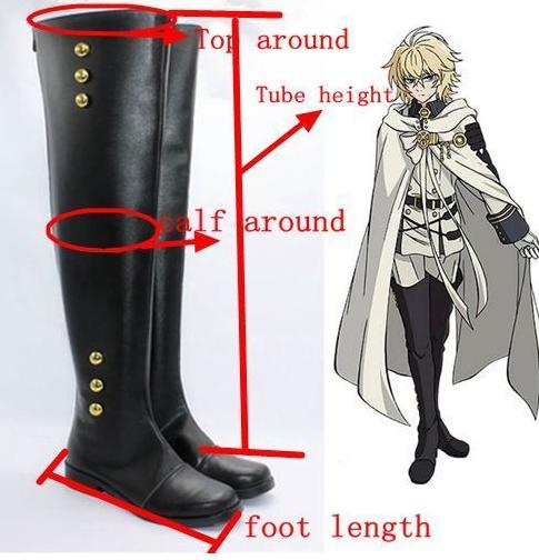 DRAMAtical Murder DMMd Seragaki Aoba long Cosplay Boots shoes shoe boot  #AT123