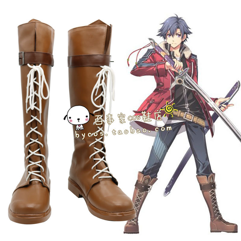 Rean Schwarzer The Legend of Heroes Eiyuu Densetsu Cosplay Boots shoes  #AT126