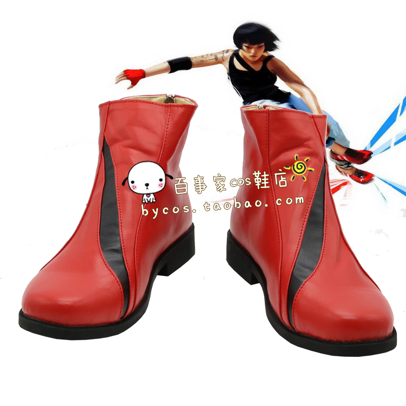Mirror's Edge Faith Connors Cosplay Boots shoes shoe boot  #AT127