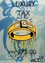 "Alec Monopoly Amazing HD print on Canvas Urban art Wall Decor Luxury Ring 24x36"" - $29.69"
