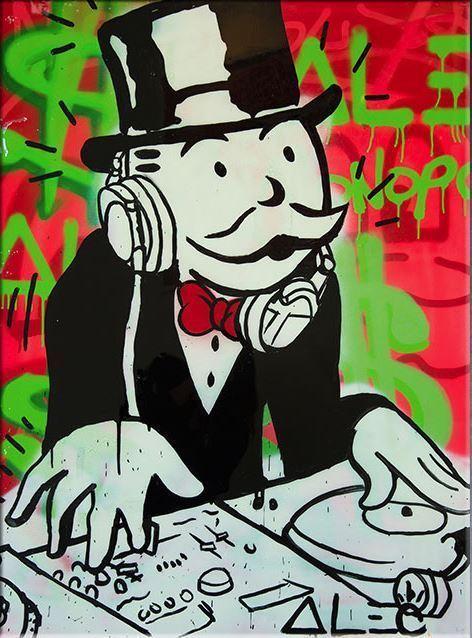 "Alec Monopoly Amazing HD print on canvas Urban Art Wall Decor DJ 24x36""-Unframed"